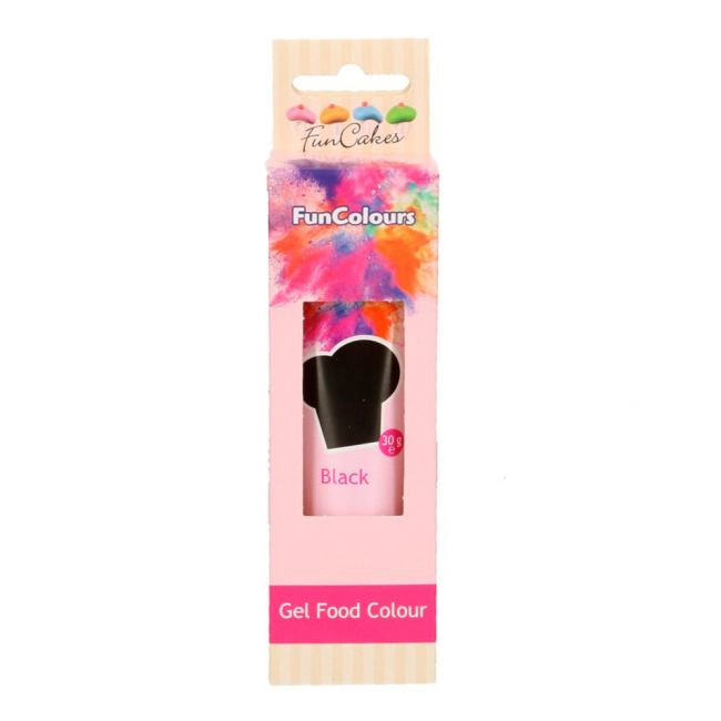 BLACK Funcolour concentrated color Gel Funcakes