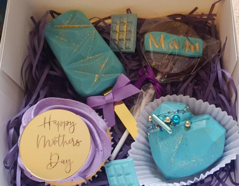 Happy Mothersday -Mirror Cake Tags -Taarttopper  -goud- rosé en zilver