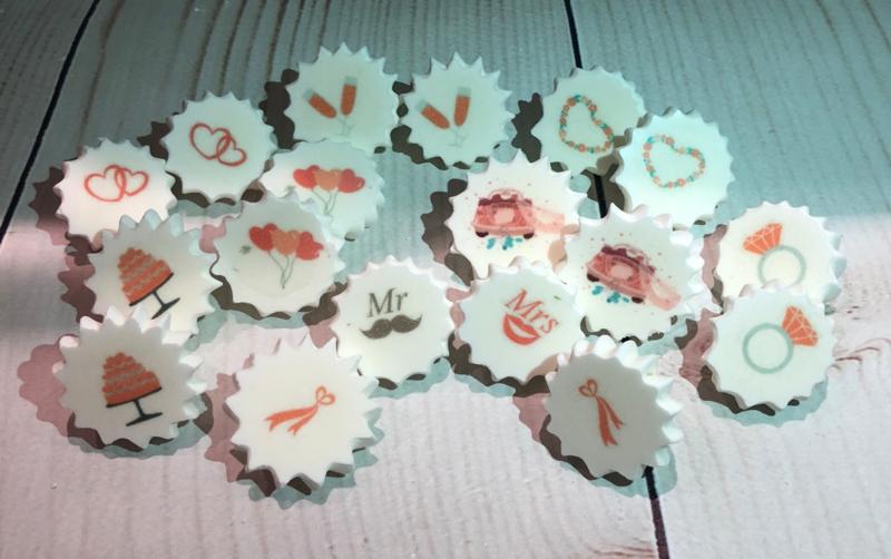WEDDING   Meringue stempel sheet / Sugar stamp