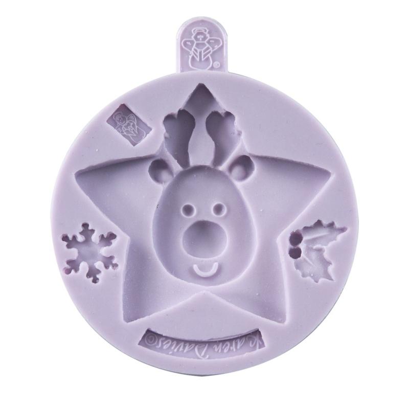 Rendier - Reindeer Christmas Cookie silicone mold Karen Davies