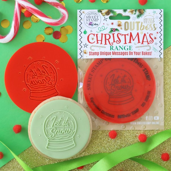 Let it Snow-SNOWGLOBE- Outboss- Christmas- SweetstamP