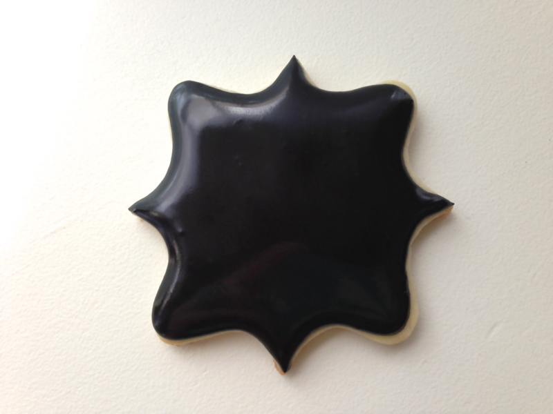 Zwarte Cookie Icing - royal icing Ready to use