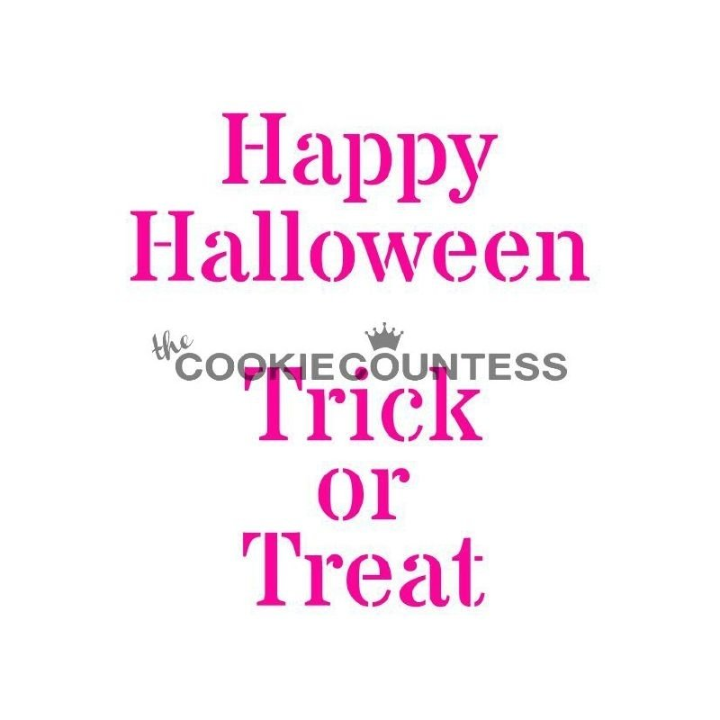 333115 Cookie Countess Stencil Happy Halloween / Trick or treat