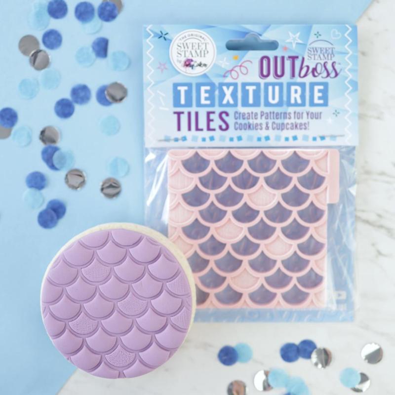 Mermaid Scales-  Outboss -Texture Tiles- Sweetstamp