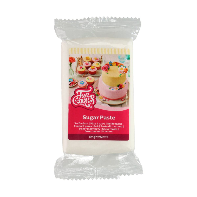 Bright White Rolfondant / sugarpaste 250 Gram Funcakes