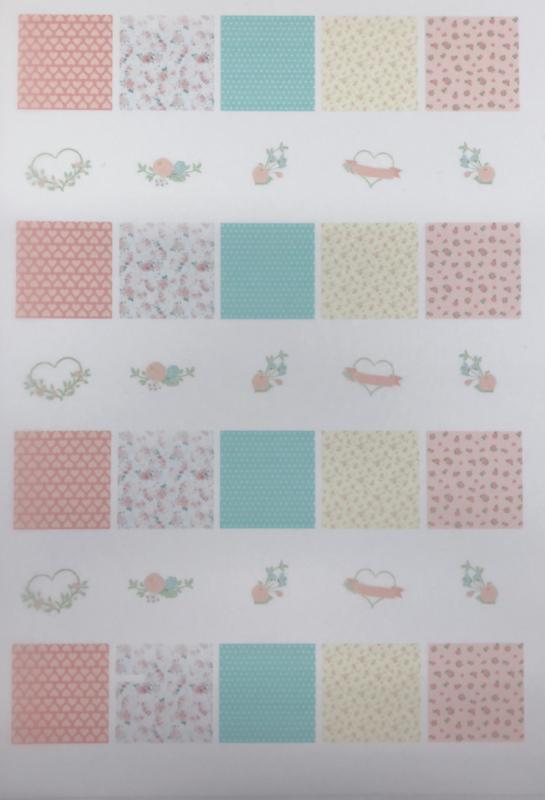 ROMANTIC   Meringue stempel sheet / Sugar stamp
