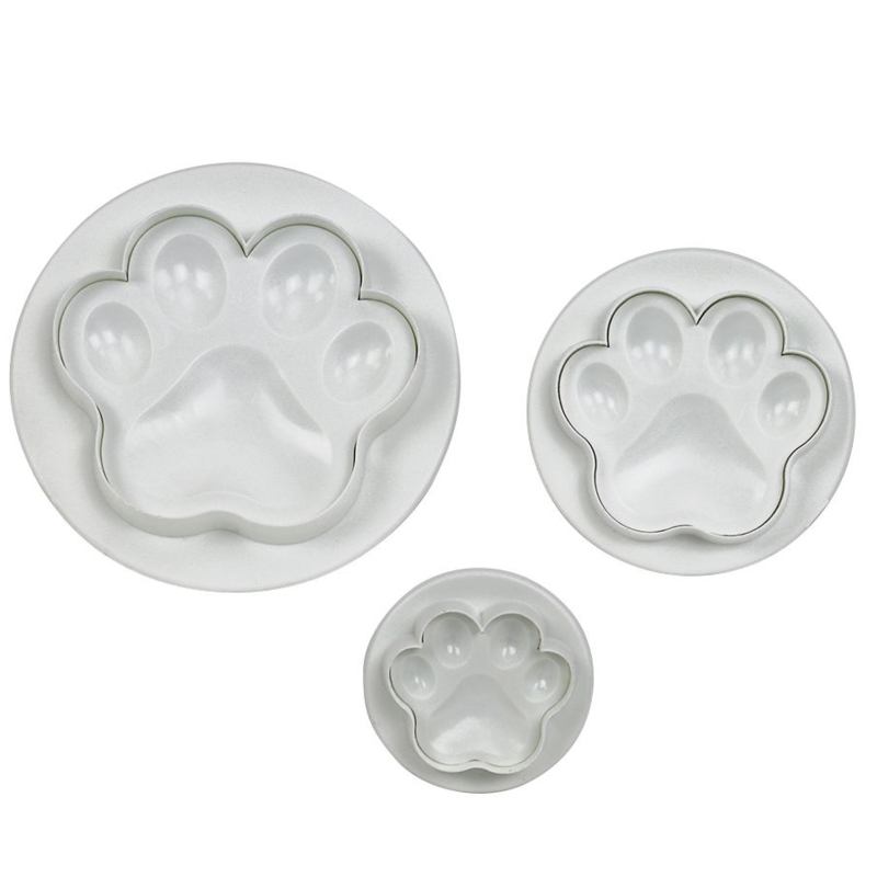 paw /poot plunger cutterset of 3 PME