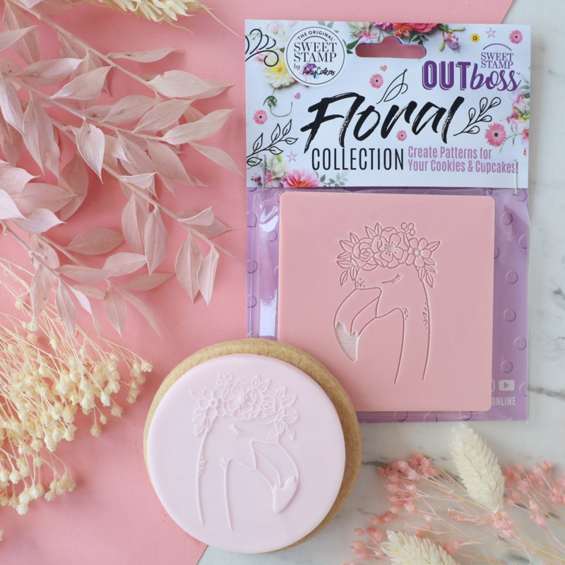 Flamingo-Floral collection- Outboss- Sweetstamp