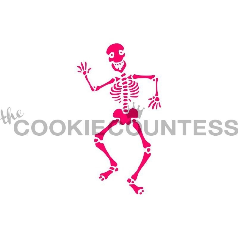 333118 Cookie Countess Stencil skelet
