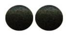 Eetbare oogjes Zwart 5 mm