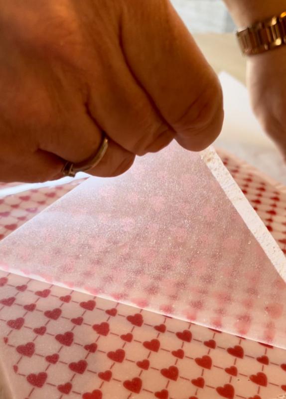 HEARTS WALLPAPER   Meringue stempel sheet / Sugar stamp