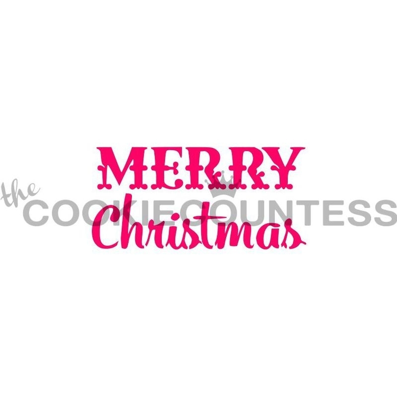 Merry Christmas Stencil Cookie Countess