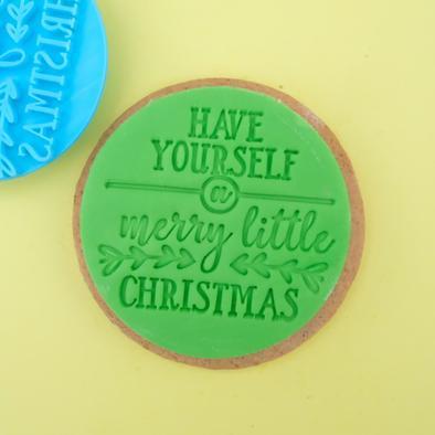 Merry little Christmas Cookie/ Cupcake embosser