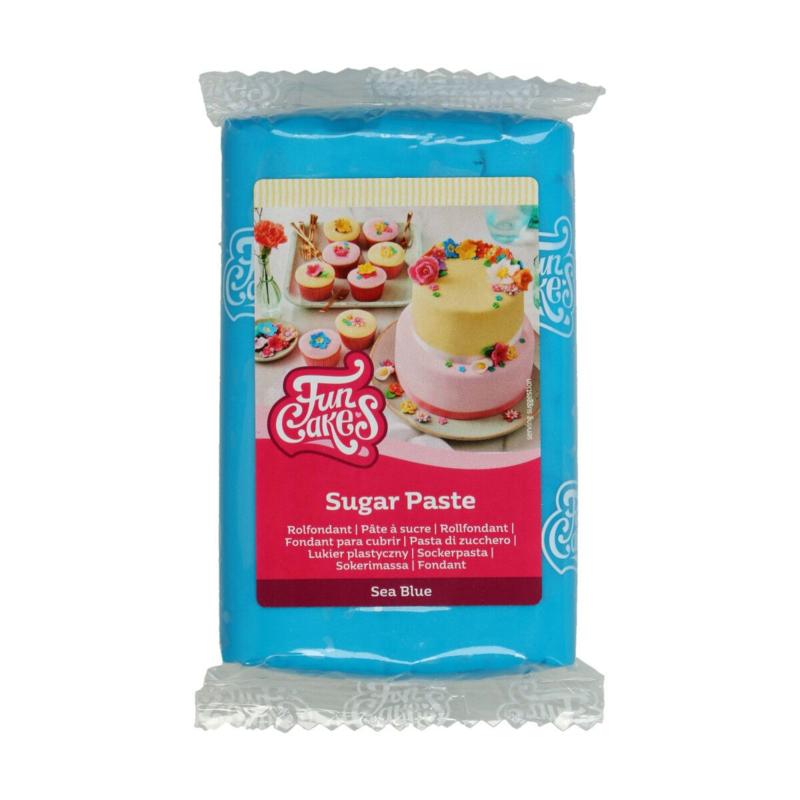 Sea Blue Funcakes Rolfondant  250 Gram