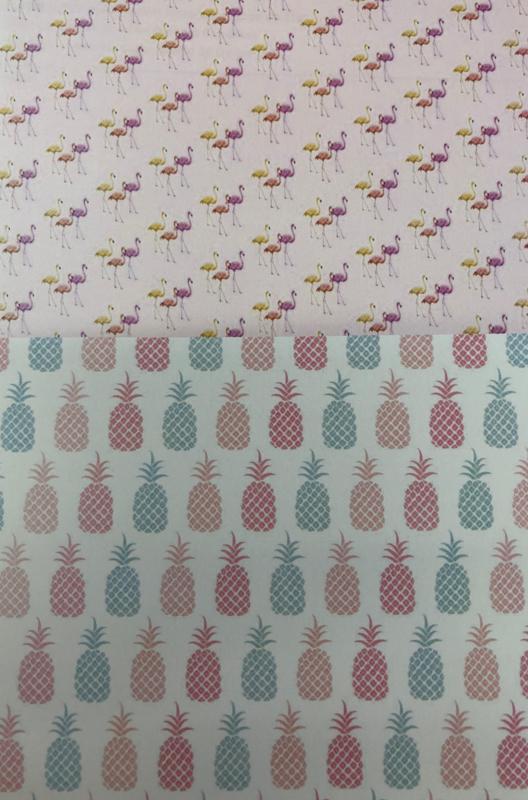 Tropical Flamingo & Pineapple meringue stempel sheet / Sugar Stamp
