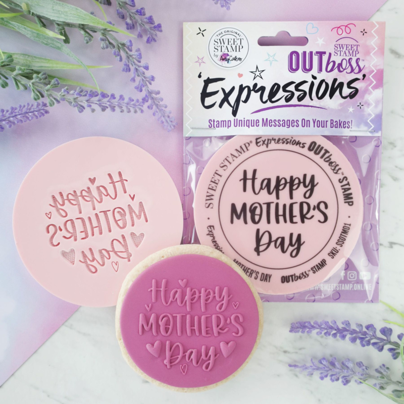 Fun Happy Mothersday-elegant - Outboss-expressions- Sweetstamp