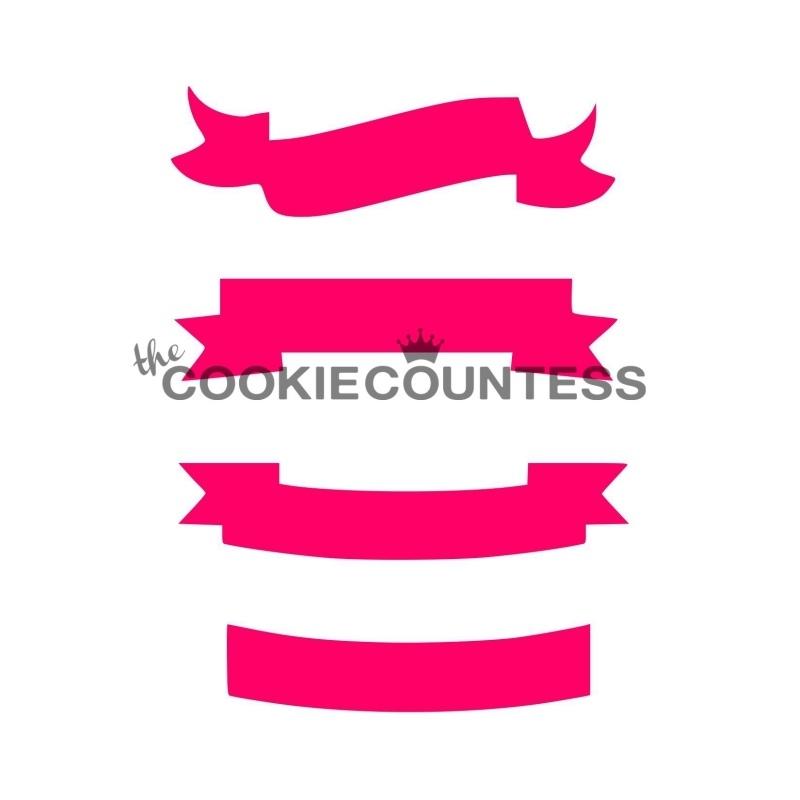 Cookie Countess Diagonal Banner Stencil
