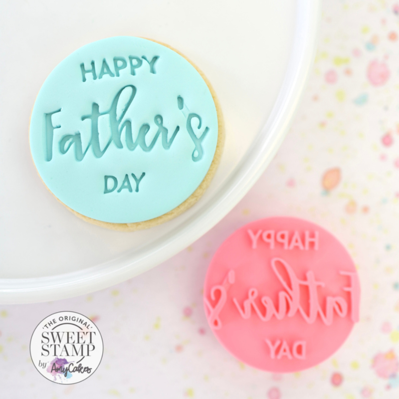 Happy Father's day- Cookie/ Cupcake embosser-Sweetstamp