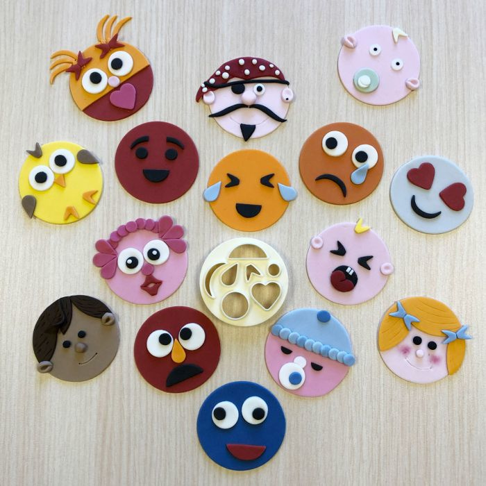 Mix 'n match FUNNY Face & more Cutter FMM