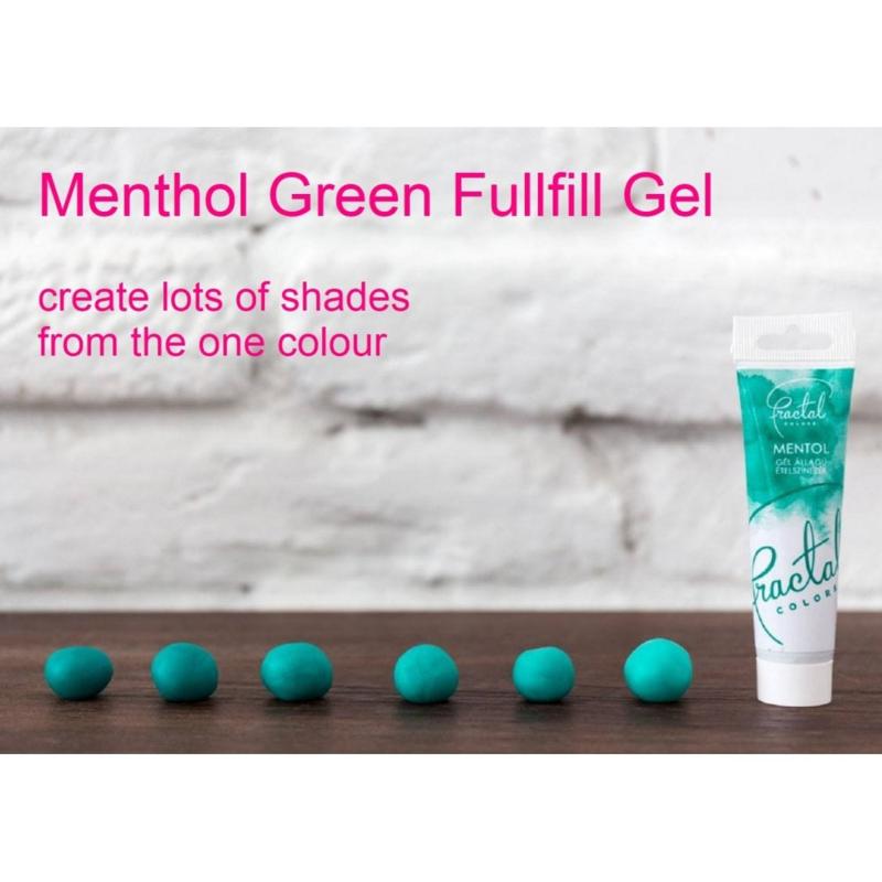 MENTHOL GREEN Fractal Colours Fullfill gel ook geschikt voor chocolade