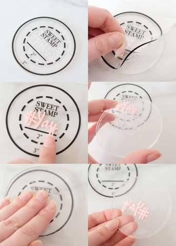 Sweet Stamp Pick up pad Round