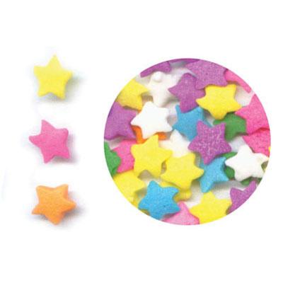 eetbare sterretjes sprinkels in pastel kleuren