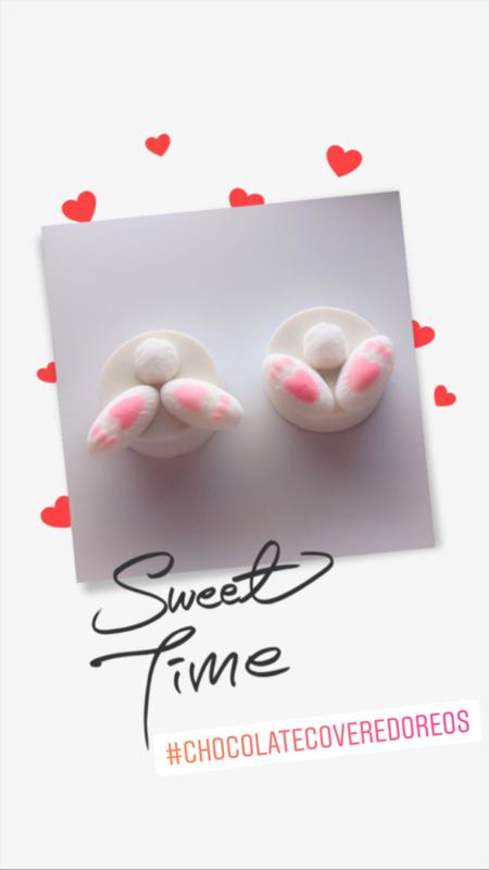 Eetbare konijnen staartjes en pootjes voor cupcakes (12 pcs)