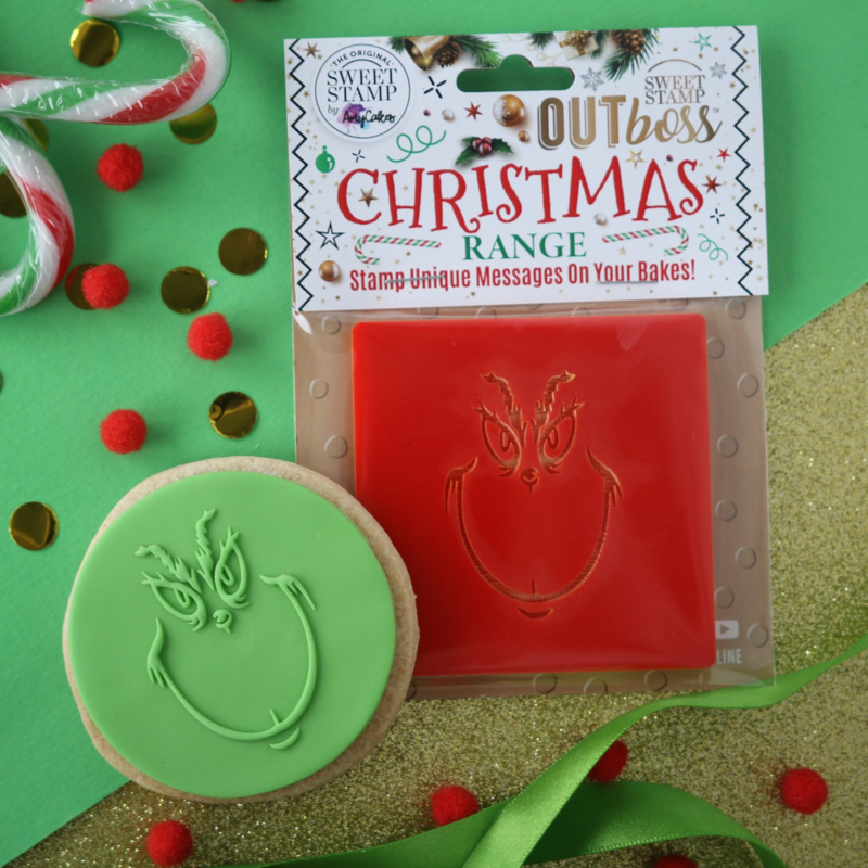The Grinch face- Outboss -Christmas- Sweetstamp