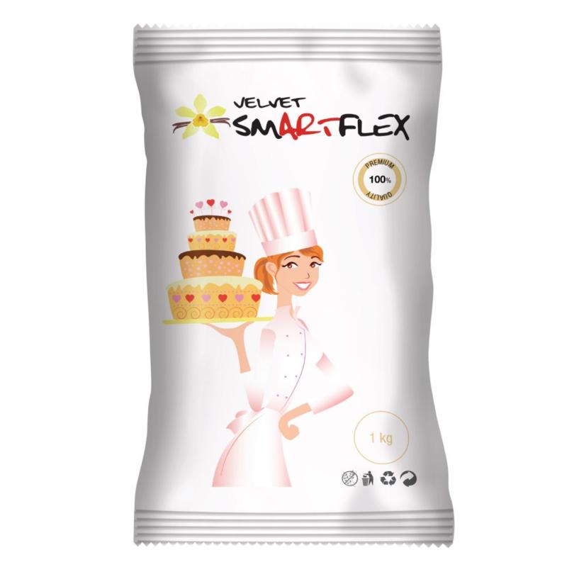 1 kg witte SmartFlex Velvet Rolfondant met vanille smaak