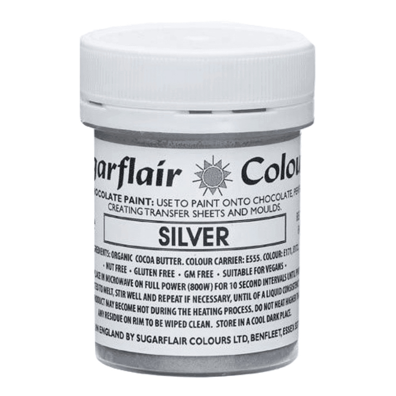 ZILVER / SILVER Lustre Chocolate paint Sugarflair