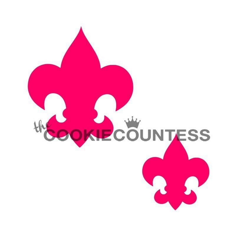 Cookie Countess Fleur de Lis Stencil