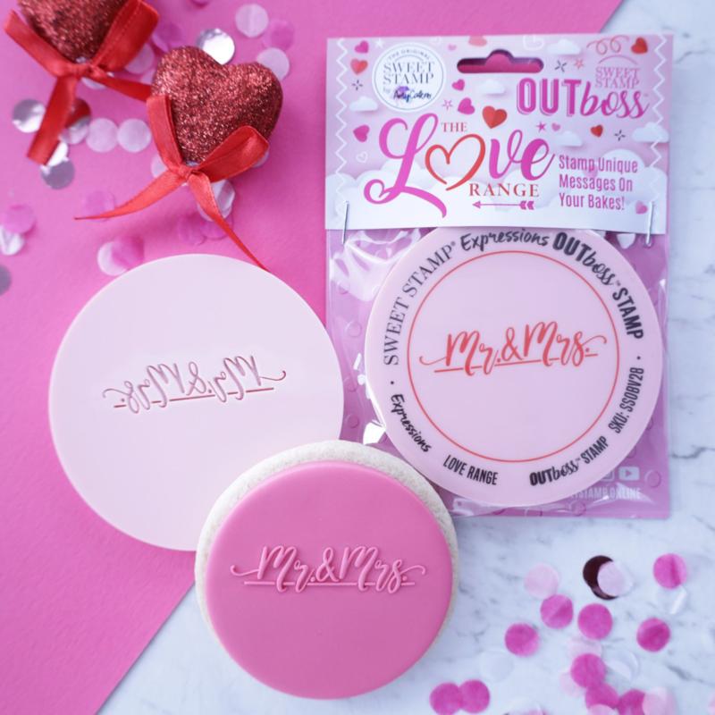 MR & Mrs Blanc - Sweetstamp- OUTboss Expression - koek & cupcake stempel