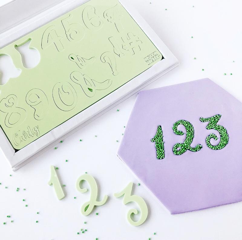 CURLY set Numbers & Symbols  Sweet Stamp