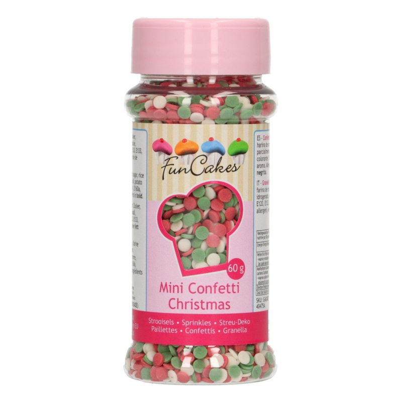 mini Kerst confetti sprinkles