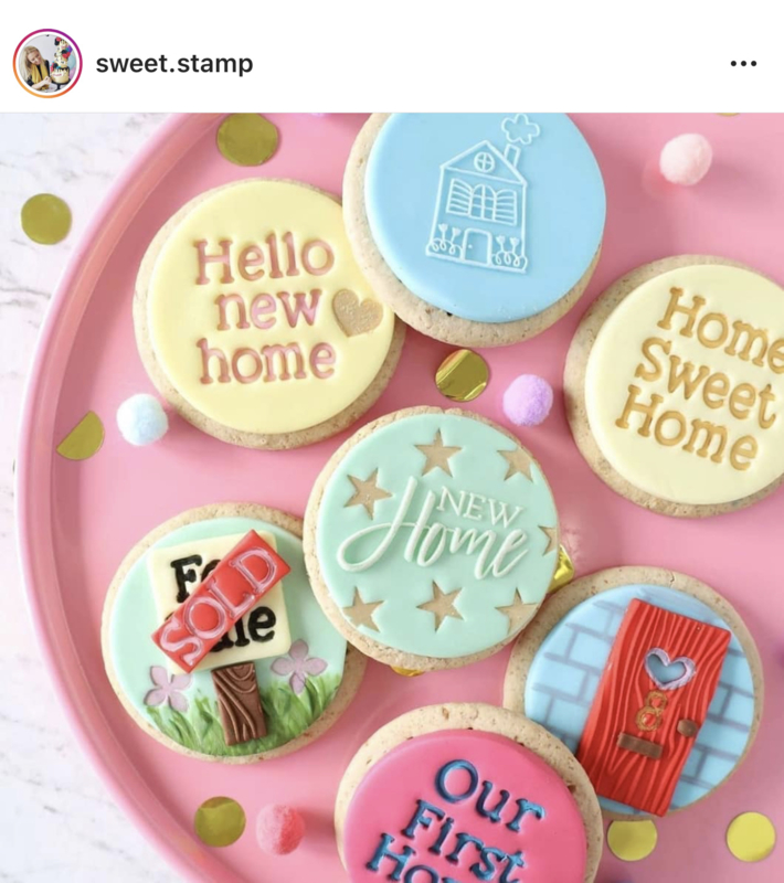 NEW HOME- Sweetstamp -OUTboss Expressions - koek & cupcake stempel