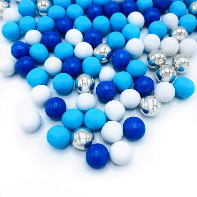 Metallic Ocean's Breeze Mix MEDIUM choco pearls - Happy Sprinkles