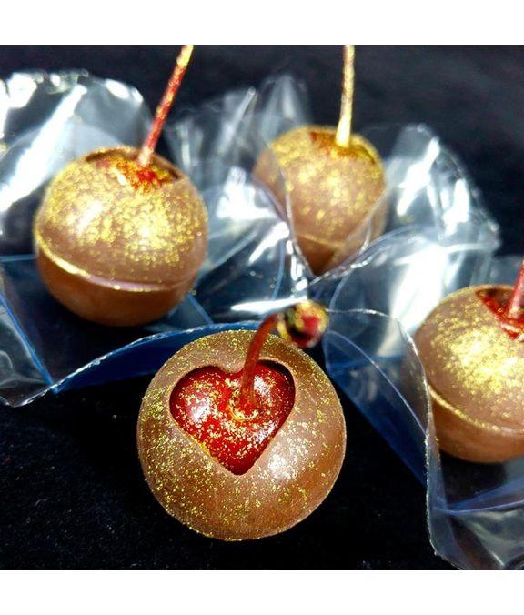BWB mold -  truffel met hart opening -  3 cm - 3 componenten chocolade mal -
