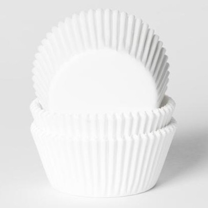 Wit standaard maat cupcake baking cups Hous of Marie 50/pk