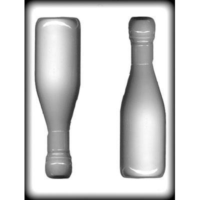 Hitte bestendige mal 3D Champagnefles