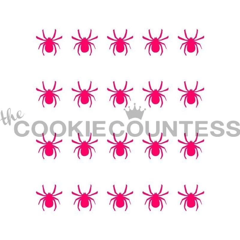 Spinnen stencil Cookie Countess