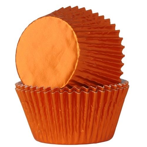 ORANJE FOLIE cupcake baking cups HOUSE OF MARIE 24/pk