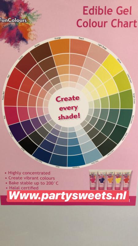 PURPLE Funcolour concentrated color Gel Funcakes
