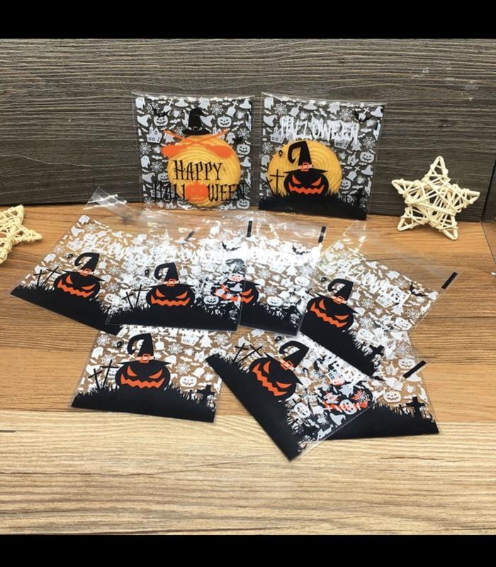 Halloween Traktaties.Halloween Foliezakjes 10x10 Cm Voor Koekjes En Kleine