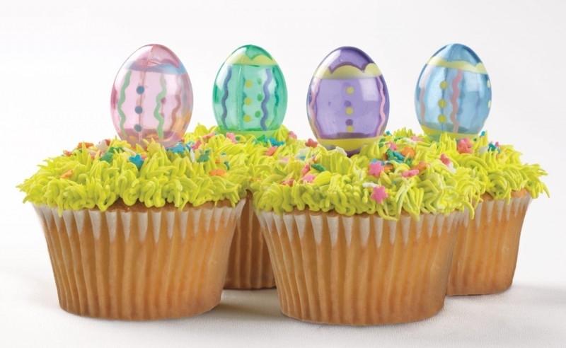 032032 Paaseieren Cupcake Toppers transparant  4/Pk