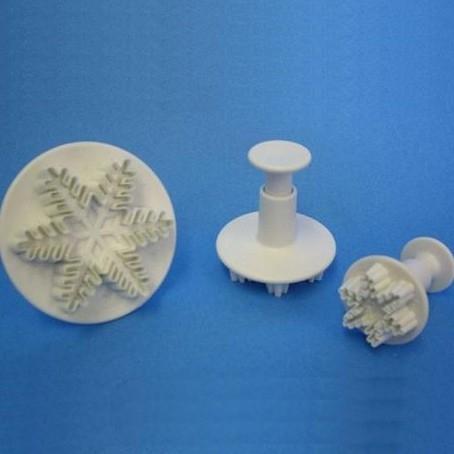 Sneeuwvlokjes Plunger Set van 3 PME
