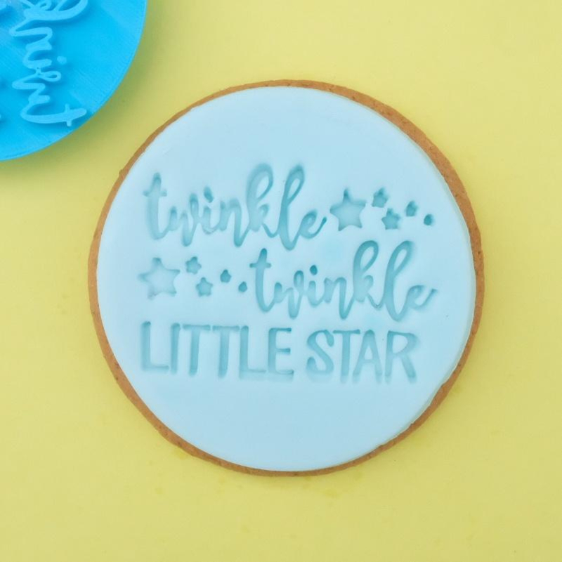 Twinkle twinkle little star - Cookie/ Cupcake embosser-Sweetstamp