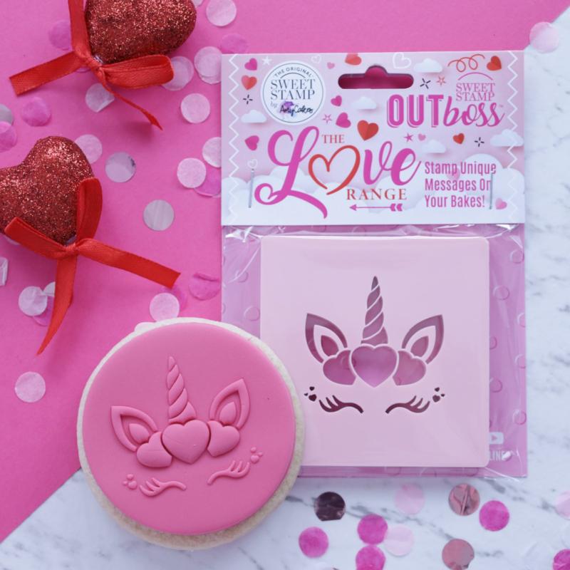 Hearts Unicorn-Outboss - Sweetstamp-