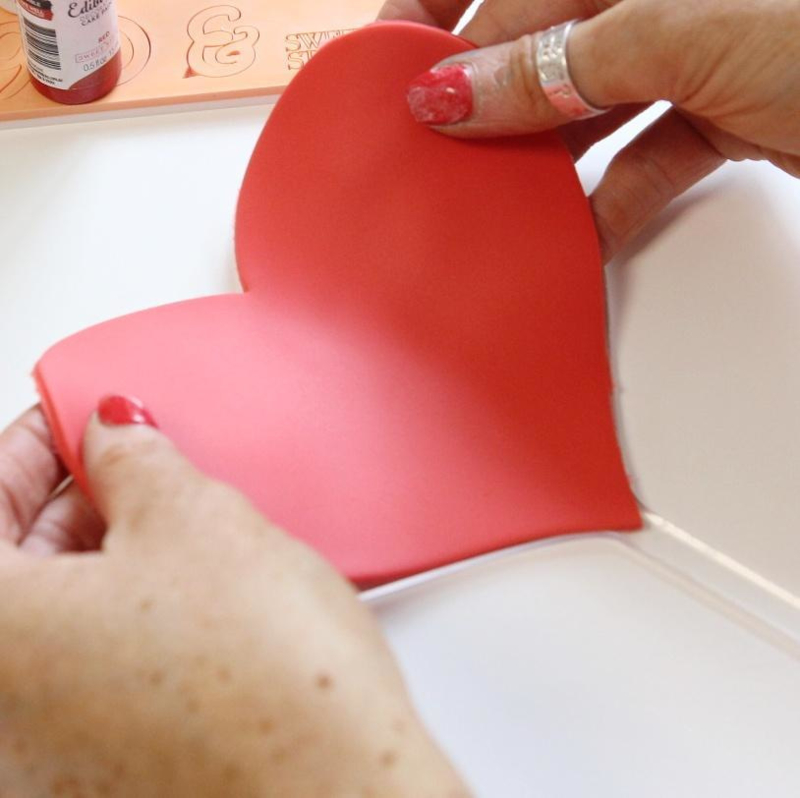 Sweet Stamp BLANK CANVAS HEART caketopper / Transparante TAARTTOPPER