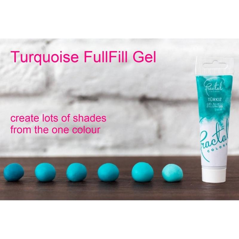 TURQOUISE Fractal Colours Fullfill gel ook geschikt voor chocolade