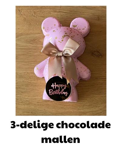 3 delige chocolade mallen